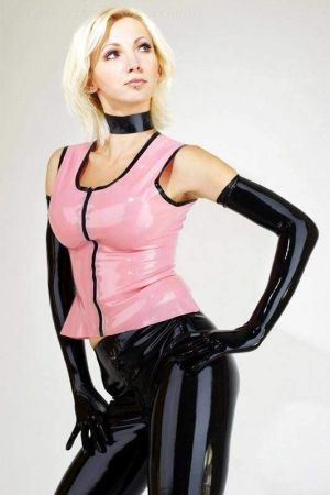 Latex Women's Top With Zipper