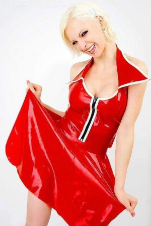 Latex Skirt With Zipper