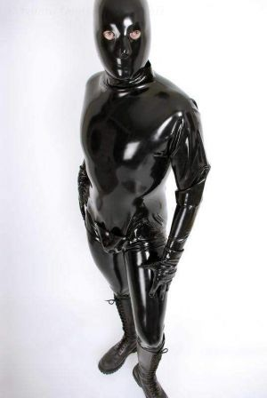 Latex Catsuit With Codpiece  3153