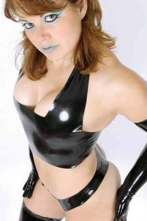 Latex Halter Top
