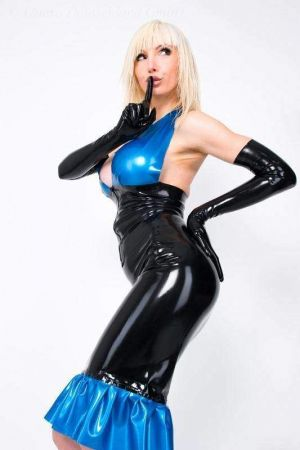 Latex Skirt With Flounce