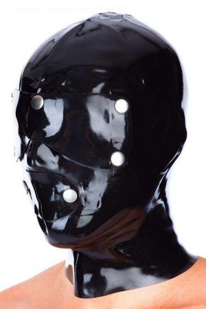 Latex Men's Hood, Anatomical System, Thick Latex 3180