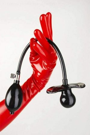 Latex Mask Attachment Pear-Shaped Inflatable Gag