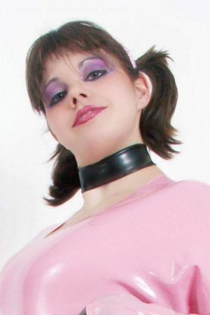 Latex Ladies' Collar, Thick Latex