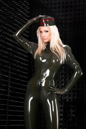 Latex Military Cap, Thick Latex