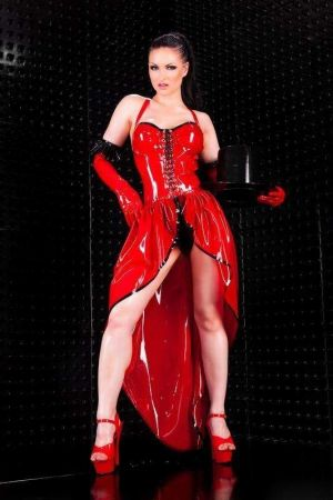Latex Burlesque Dress  3275