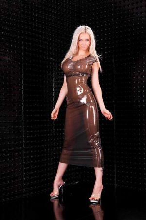 Latex Dress Without Sleeves 3277