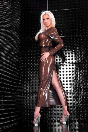 Latex Dress With Slit