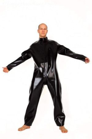 Latex Men's Catsuit With Loose Fit, Thick Latex