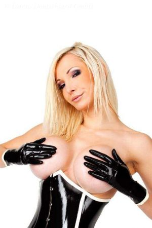 Latex Short Gloves With Edging 3288