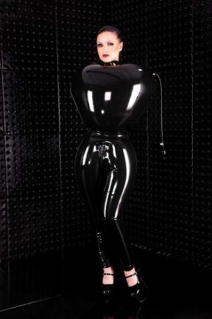Latex Women's Inflatable Straitjacket, Thick Latex 3295