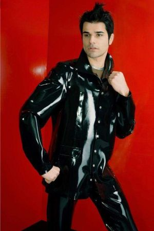 Latex Men's Jacket, Thick Latex