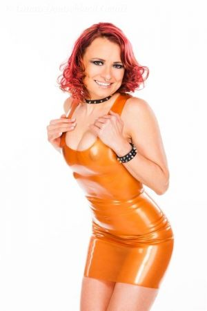 Latex Mini dress  3430