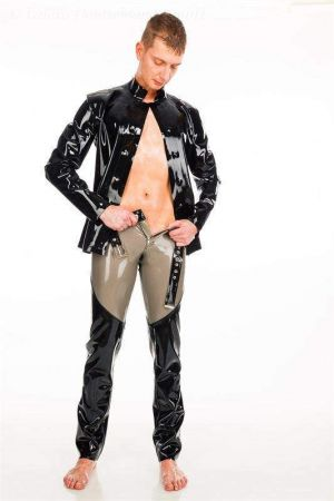 Latex Men's Pants In Two Colors, Thick Latex
