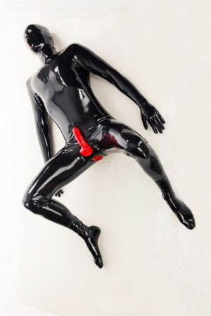 Latex Catsuit: Full-Body With Anal Condom And Penis Sheath 3466S-3249