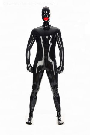 Latex Catsuit: Full-Body With Internal Condom And Back Zipper 3466Z