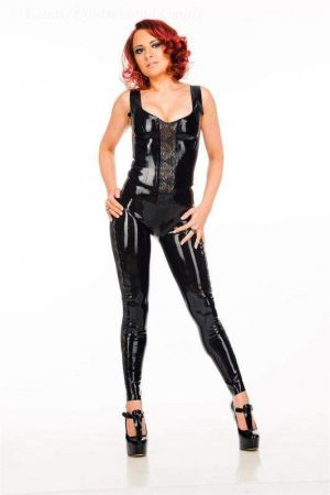 Latex Women's Top With Lace 3474