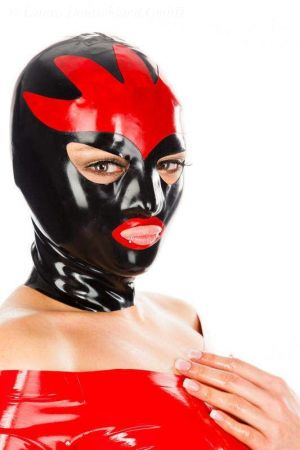 Latex Hood With Tracery, Thick Latex 3483