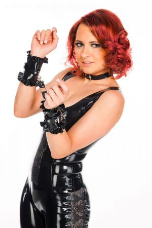 Wrist Restraints With Ruffles, Thick Latex