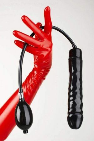 Latex Inflatable Dildo, 17 x 4.0 cm