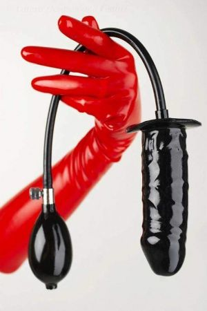 Latex Inflatable Solid Dildo, 15 x 3.5 cm