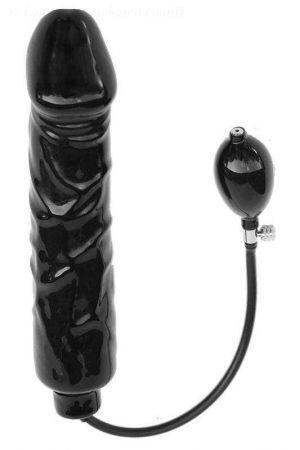Latex Inflatable Huge Solid Dildo, 30 x 6.0 cm