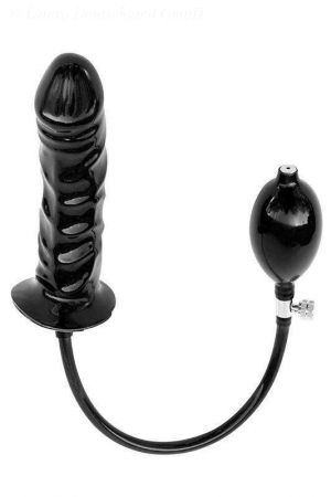 Latex Inflatable Solid Dildo, 16 x 4.5 cm